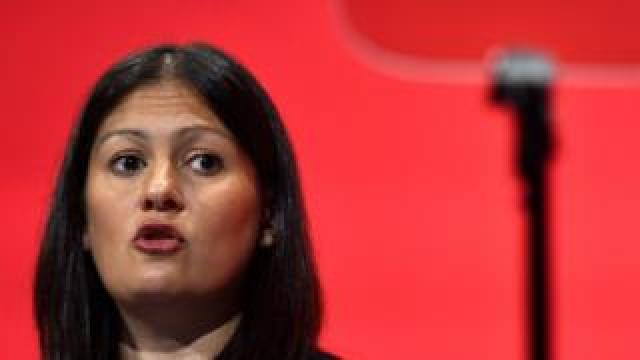Lisa Nandy speaking during Labour party conference in 2015