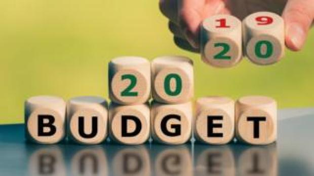 Budget 2020 written out in blocks