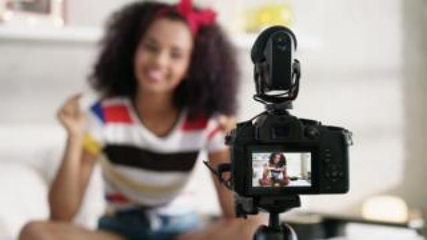 A YouTube vlogger