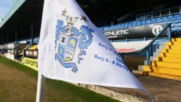 Bury corner flag