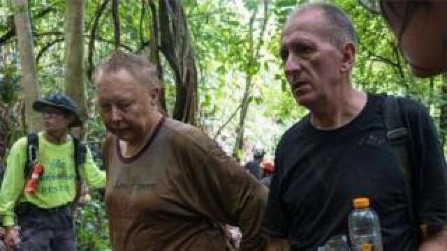 Vernon Unsworth, right, and Rob Harper
