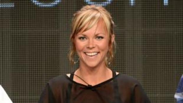Jessi Combs takes part in a panel for Velocity's programme Overhaulin' in California in 2012