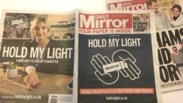Philip Morris ad in Daily Mirror