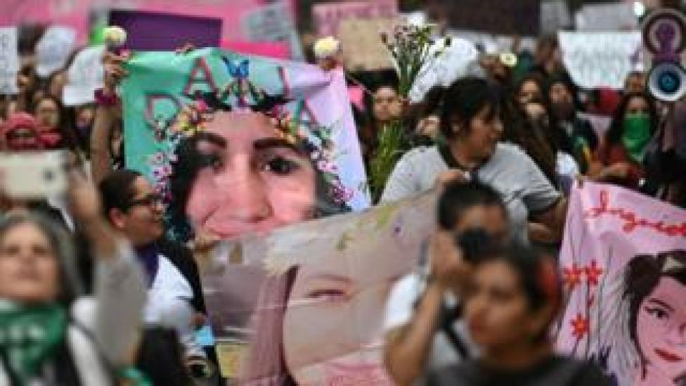 Women march in Mexico City to protest gender violence