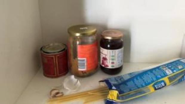 Scant food cupboard