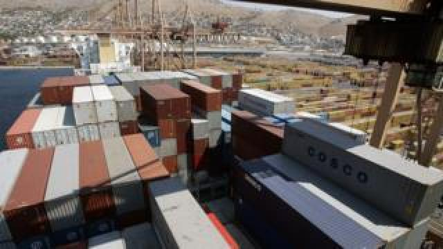 Shipping containers at Piraeus