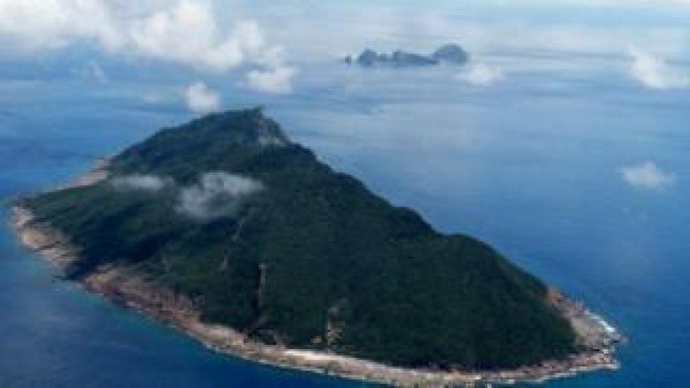 Aerial shot of the Senkaku/Diaoyu islands