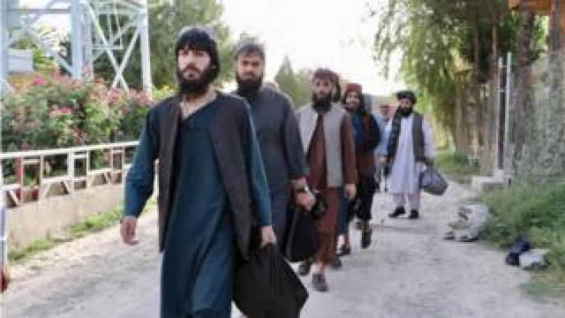 Newly released prisoners in Kabul, 13 August 2020