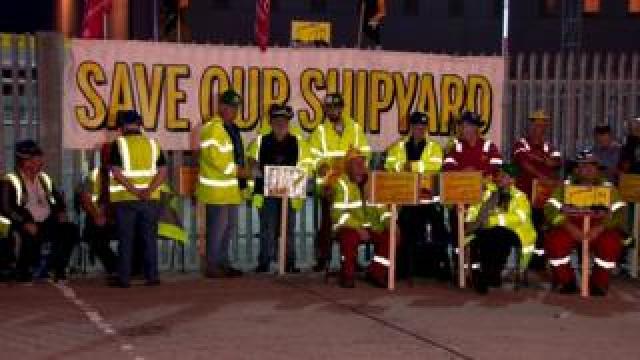 Shipyard protest