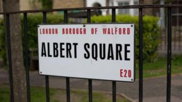 Albert Square sign
