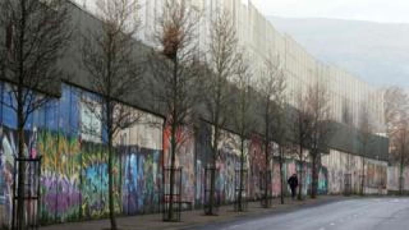A peace wall in Belfast