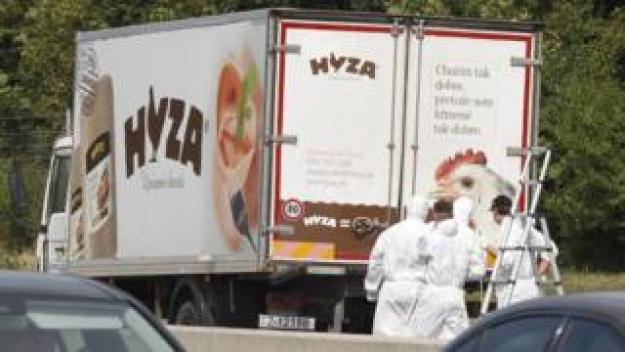 Lorry on A4 motorway in Austria (27 Aug 2015)