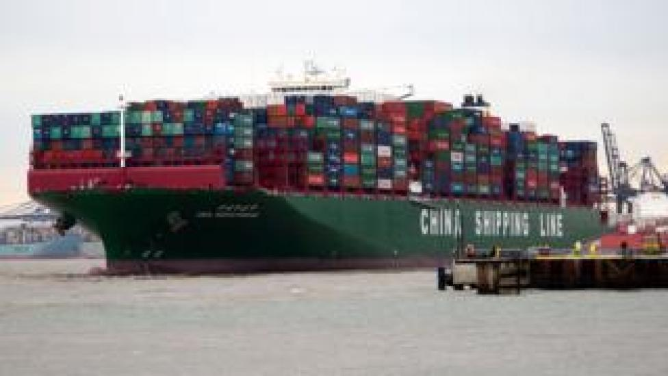 A Chinese cargo ship