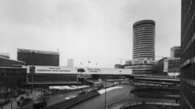 The Bull Ring shopping centre, Birmingham, in 1965