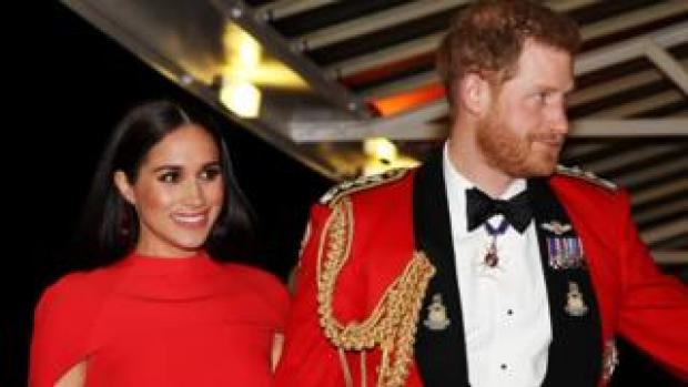 The Duke and Duchess of Sussex at Saturday's Festival of Music