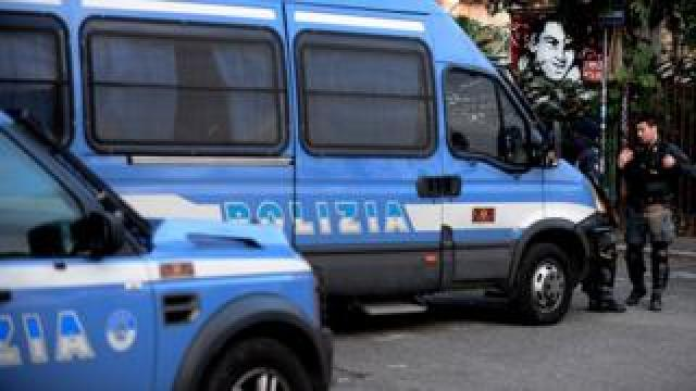 Italian police van