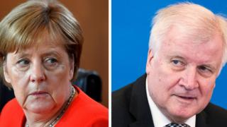 Angela Merkel (left) and Horst Seehofer. Photo: 27 June 2018