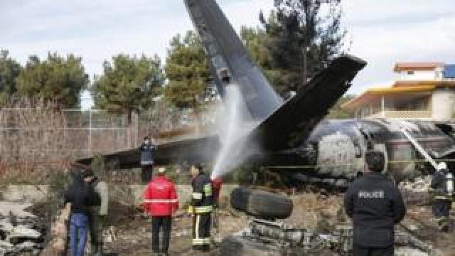 Site of plane crash