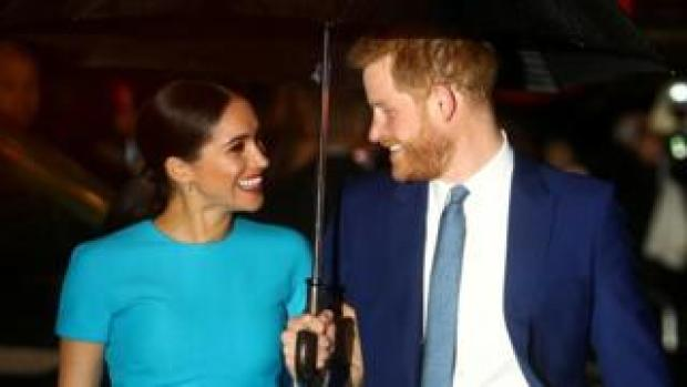 The Duke and Duchess of Sussex in March 2020