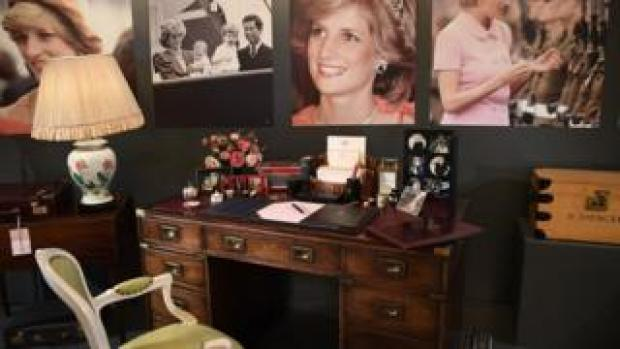 Princess Diana's desk