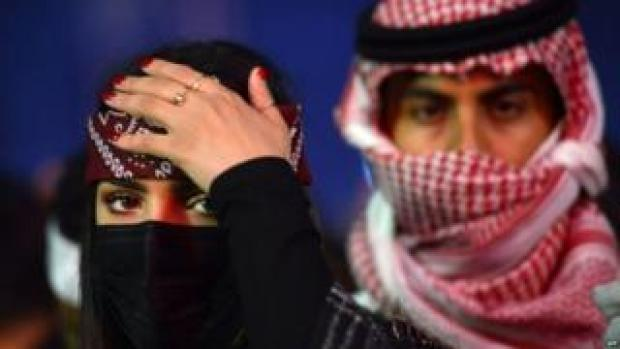 Young Saudi at a music festival