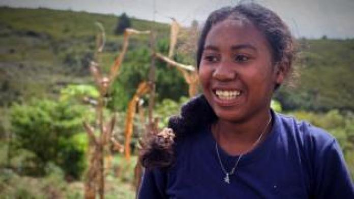 Mamtemaima, a member of the Mangabe Youth for Lemurs team