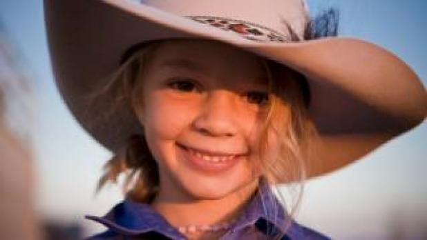 """Dolly"" Amy Everett wearing an Akubra hat"