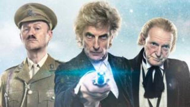 Mark Gatiss, Peter Capaldi and David