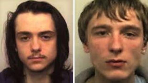 Mugshots of Matthew Hanley (left) and Connor Allsopp (right)