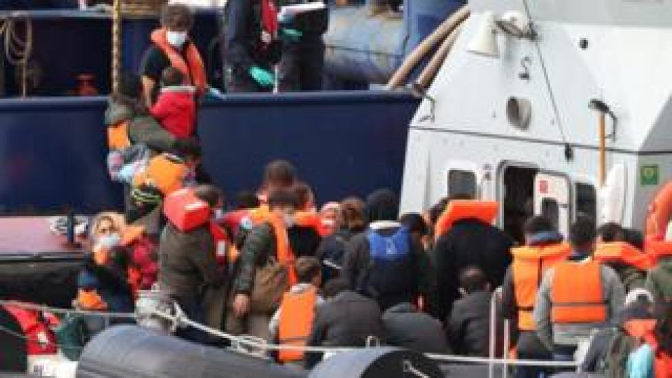 Migrants intercepted by Border Force