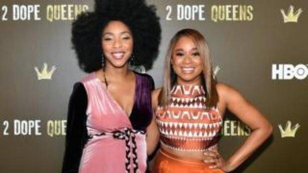 Jessica Williams and Phoebe Robinson of podcast 2 Dope Queens