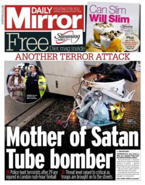 The Mirror front page 16/09/2017
