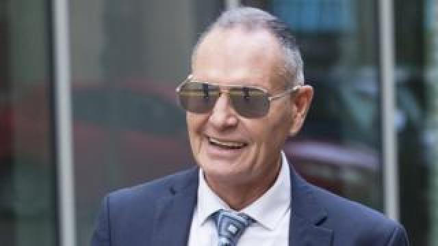 Paul Gascoigne arriving at Teesside Crown Court