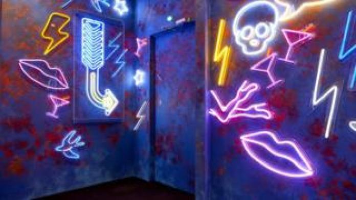 The Diary Room door in the Celebrity Big Brother 2018 house