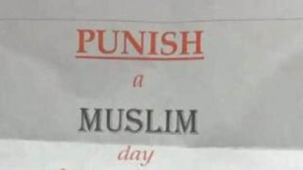 Punish a Muslim Day letter