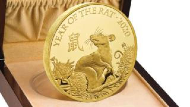 Gold coin for Year of the Rat