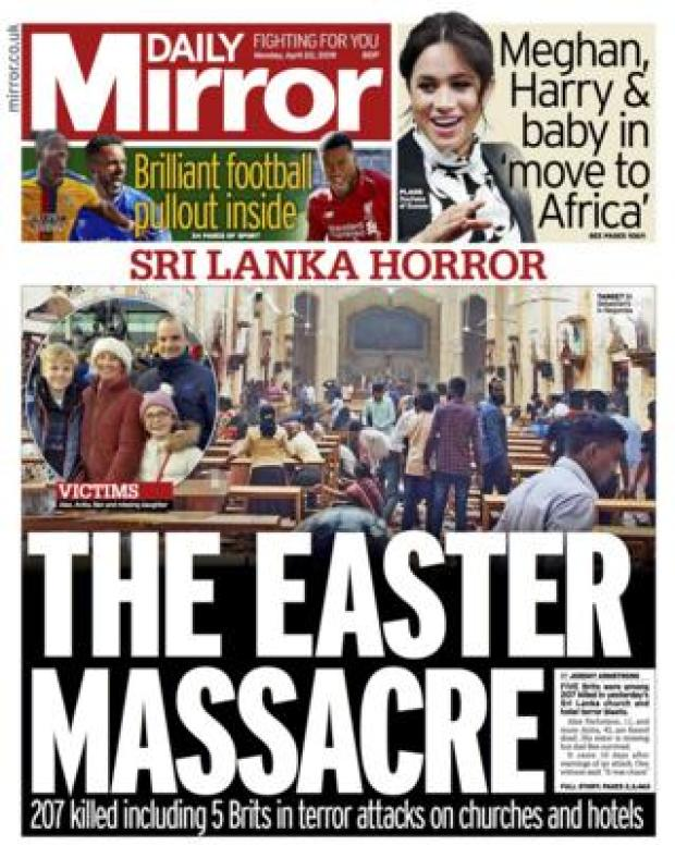 Mirror front page 22/04/19
