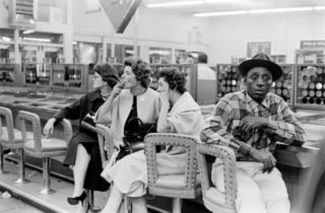 Lunch counter in Sausalito, California, 1962