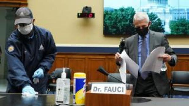 Dr. Fauci testified in person before the Congressional committee.