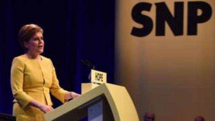 Nicola Sturgeon at conference