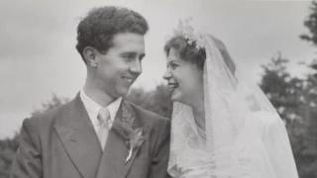 Bob and Norma Beasley on their wedding day