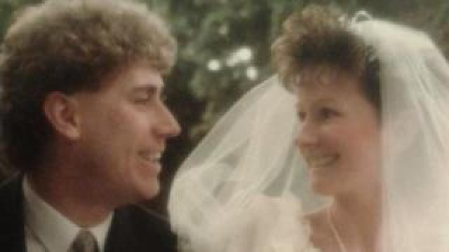 Ali and Wendy on their wedding day