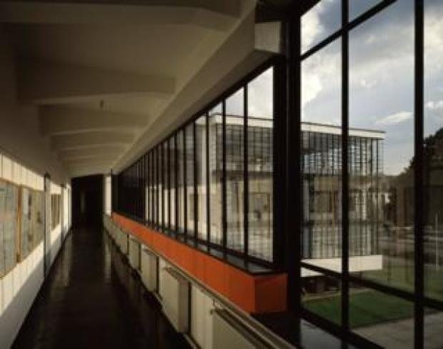 A view inside the Bauhaus building