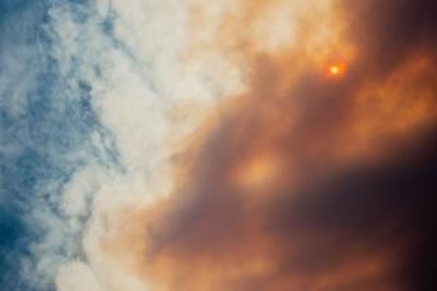 Smokey skies in California amid wildfires