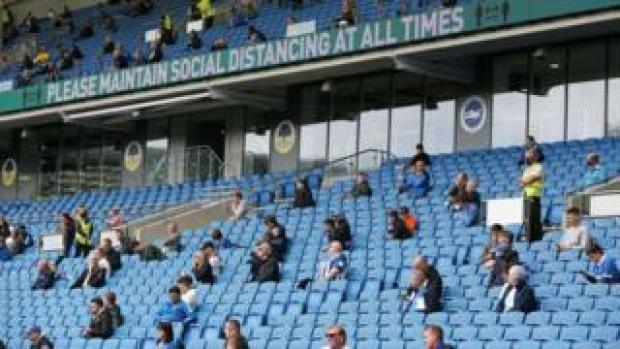 Fans at Brighton v Chelsea trial match