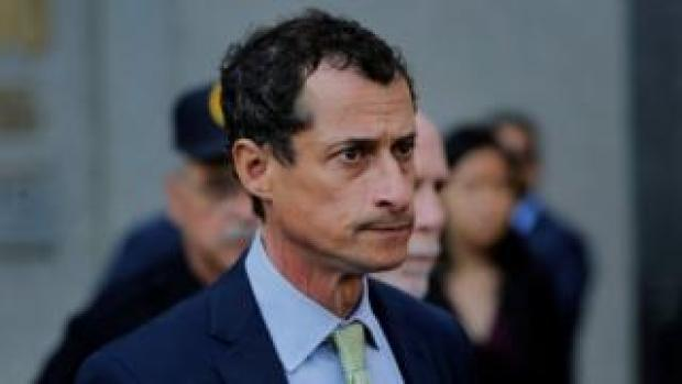Former US Congressman Anthony Weiner departs US Federal Court in New York City following his sentencing.