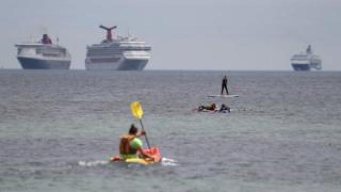 Cruise ships off Portland