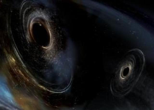 Black hole artwork