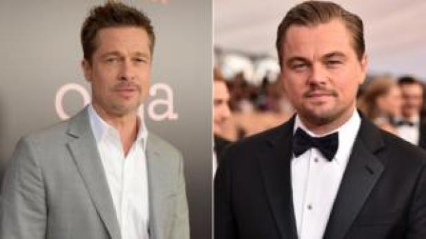 L to R: Brad Pitt and Leonardo DiCaprio