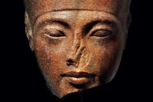 Handout photo from Christie's showing a 3,000-year-old bust of Tutankhamun (30 June 2019)